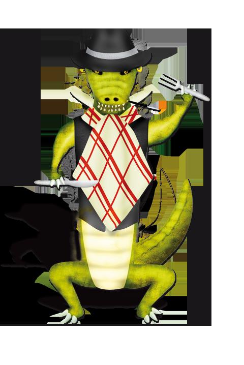 crocobill-serviette